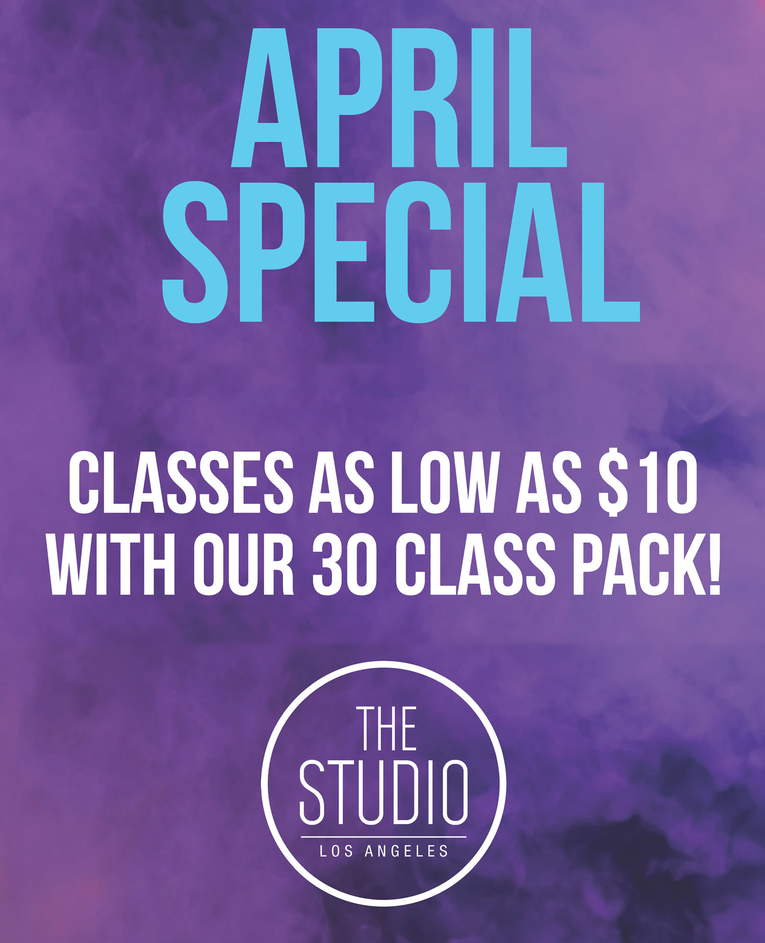 April Special at The Studio Los Angeles